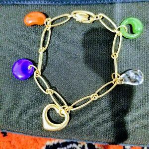 Tiffany & Co. Elsa Peretti 18K Gold Charm Bracelet